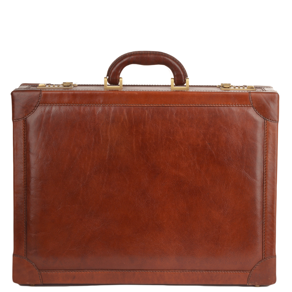 Briefe Case : Italian leather briefcase brown nh