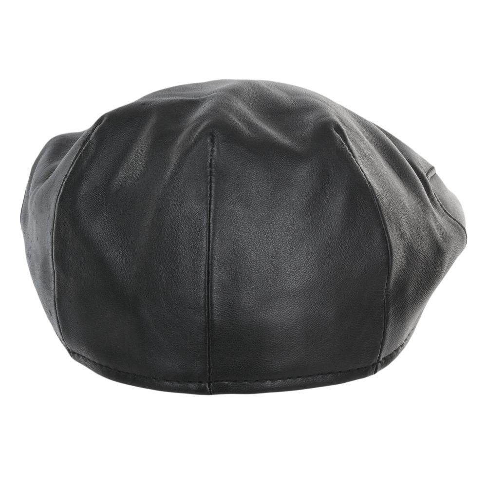 Leather Flat Cap Black Gatsby Leather Handbags Uk