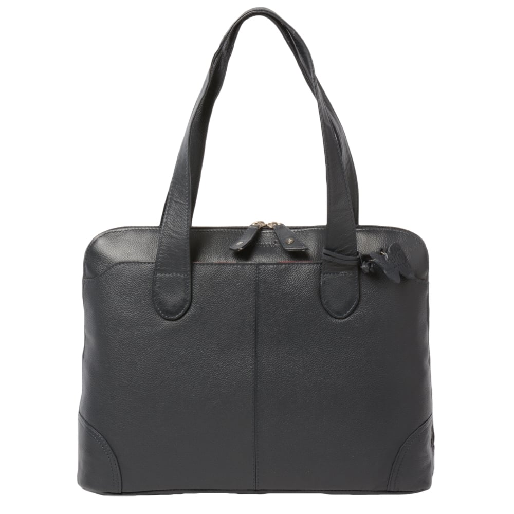 Womens Leather Handbag Navy : Ela 1086 | Leather Handbags