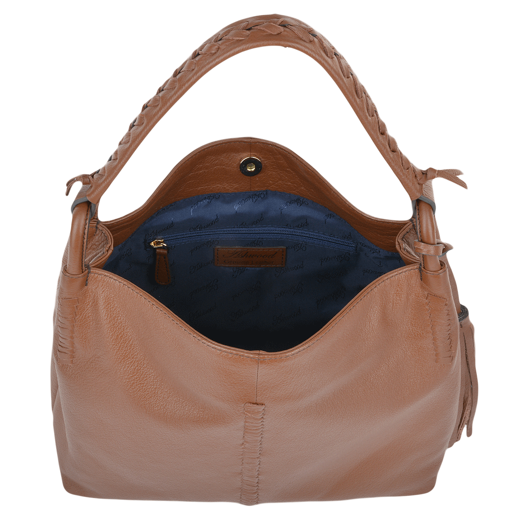 Womens Leather Hobo Shoulder Bag Tan : 61634 – Leather ...